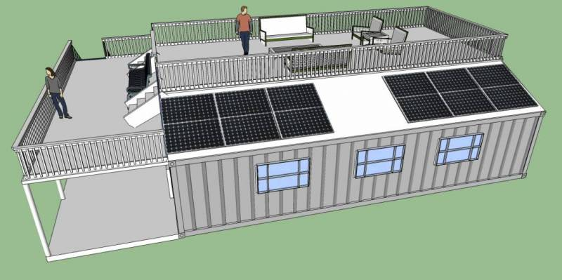Off grid living shipping container home plans off grid for Living off the grid house plans