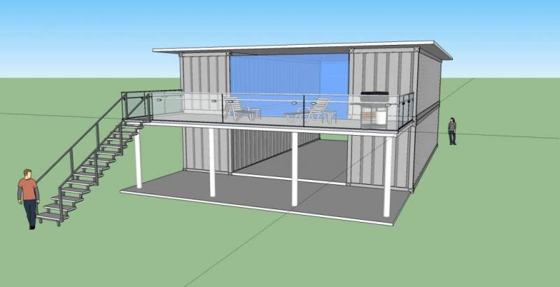 25k Container House Model 3 Br 2 Bath 2560 Square Foot Container House