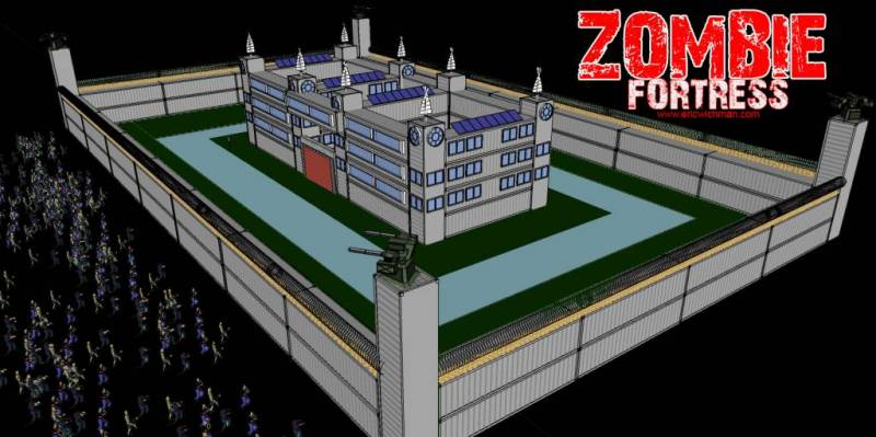 Zombie fortress are you ready for the zombie apocalypse for Fortress house