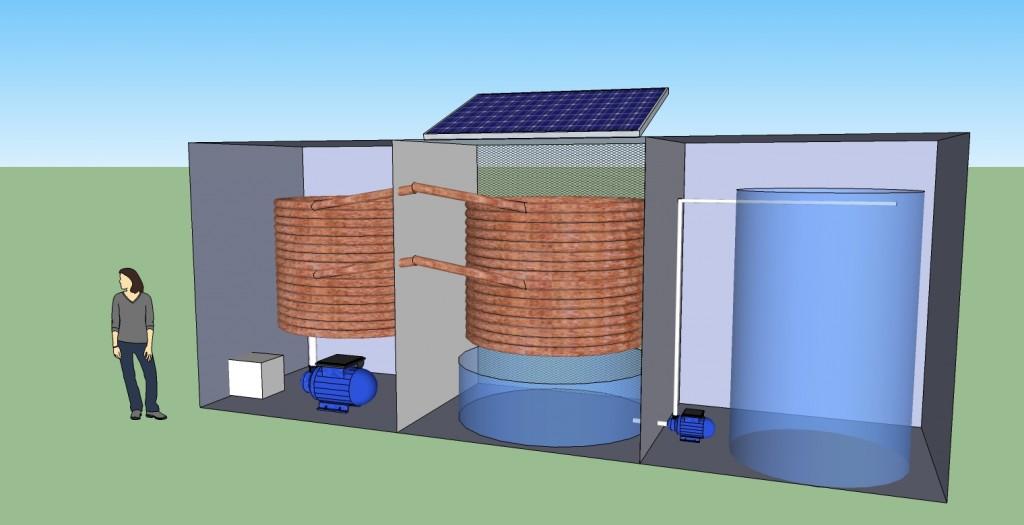 Atmospheric water generator concept