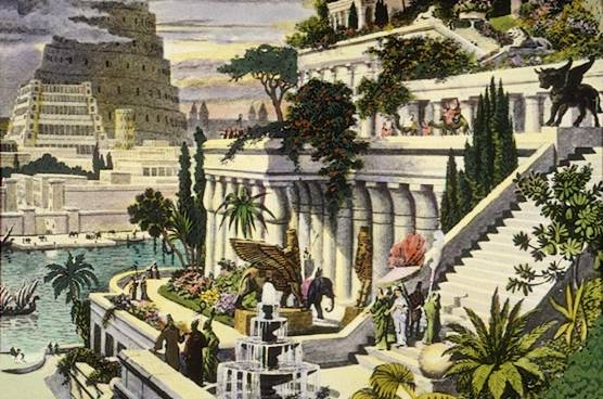 Hanging Gardens of Babylon - early vertical farming