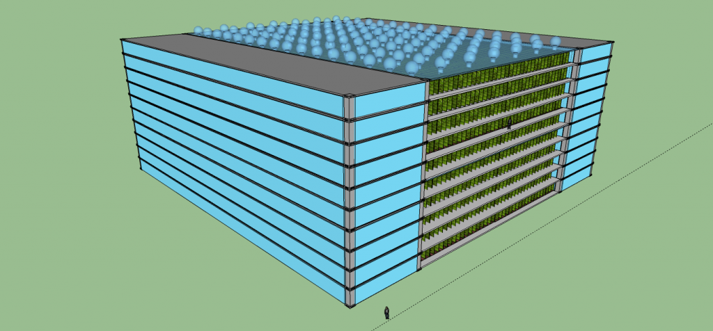 Vertical Farm Roof: Lighting system