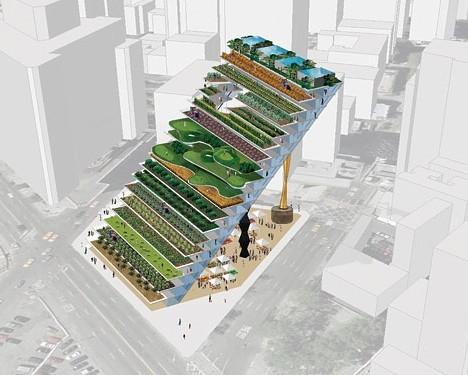 WORKac's Diagonal Vertical Farm
