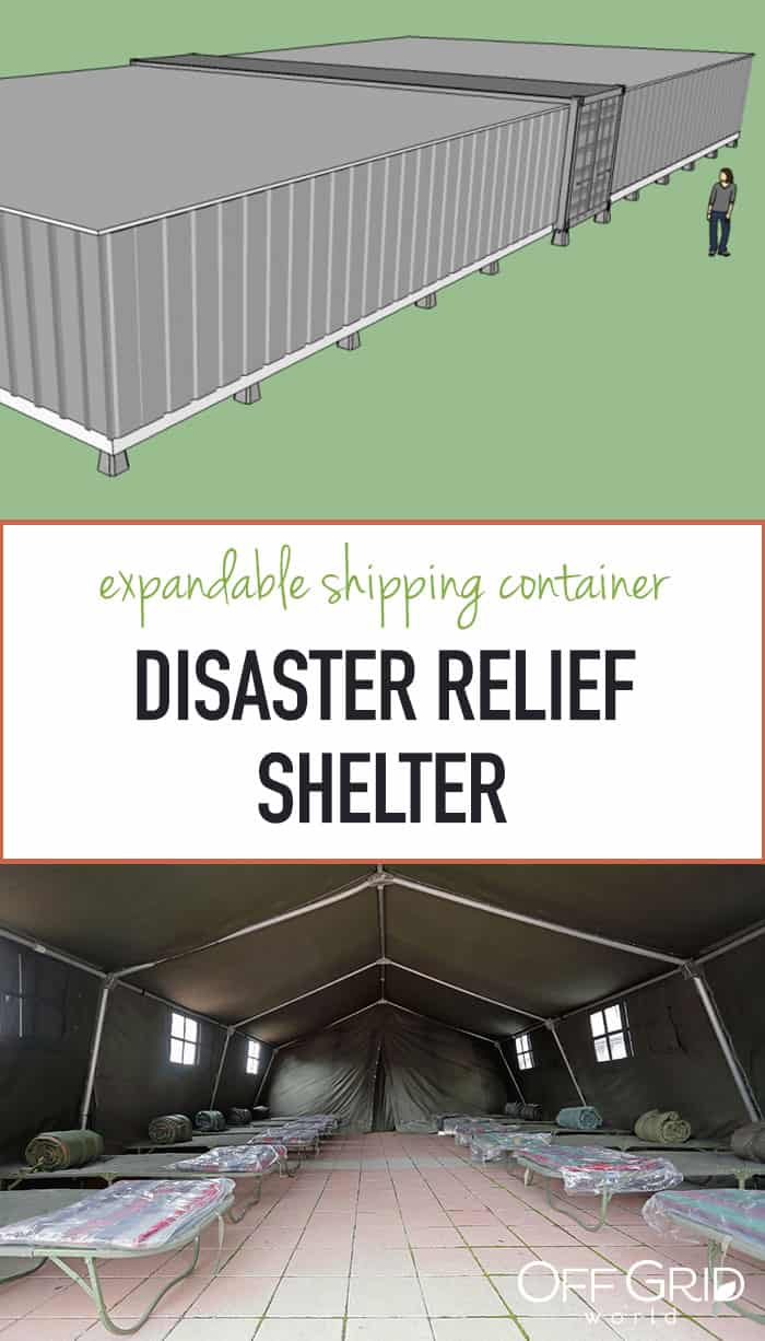 Shipping container disaster relief