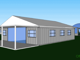 Ranch style shipping container home