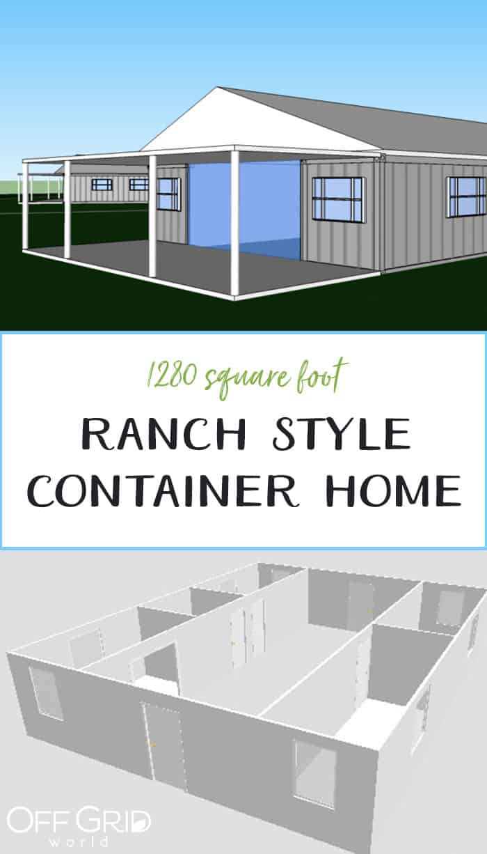 Ranch style container home