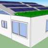 1440sqft 3BR 1BA Shipping Container Home with Living Roof and 4000 Watt Solar Power System