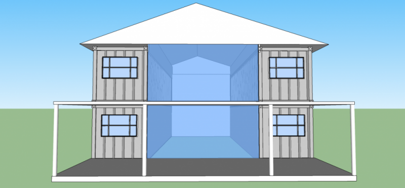 2560sqft 5br 2ba 2 story shipping container home for 50k for 5br house plans