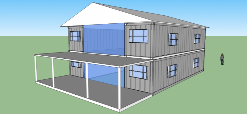 2560sqft 5BR 2BA 2 Story Shipping Container Home For 50k
