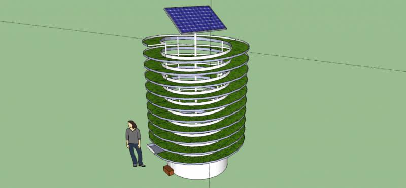 SOLAR POWERED VERTICAL AQUAPONICS SYSTEM
