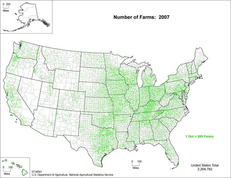 Farms Map USA
