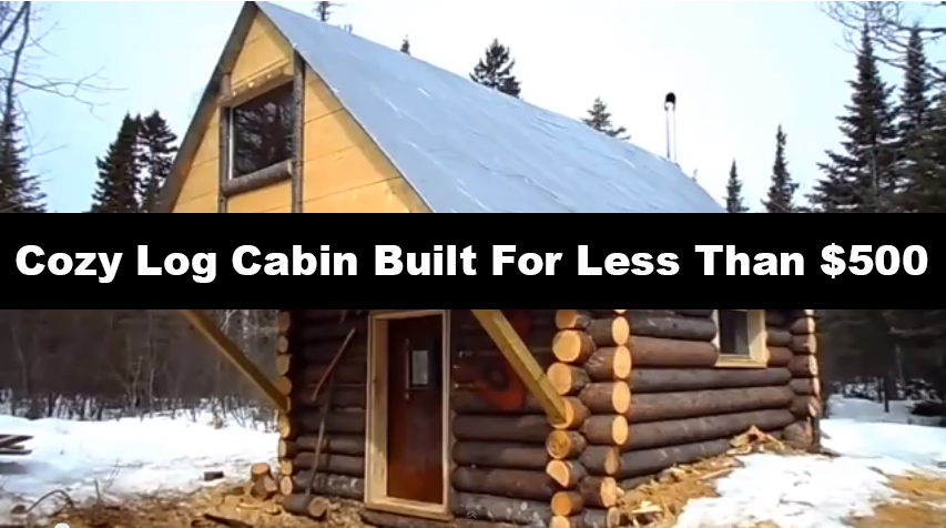 Cozy-Log-Cabin-built-it-for-less-than-500