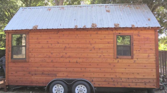 teen builds tiny house