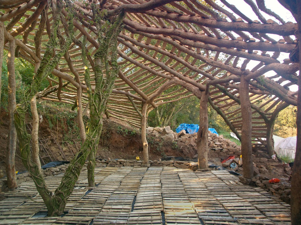 hobbit house interior frame