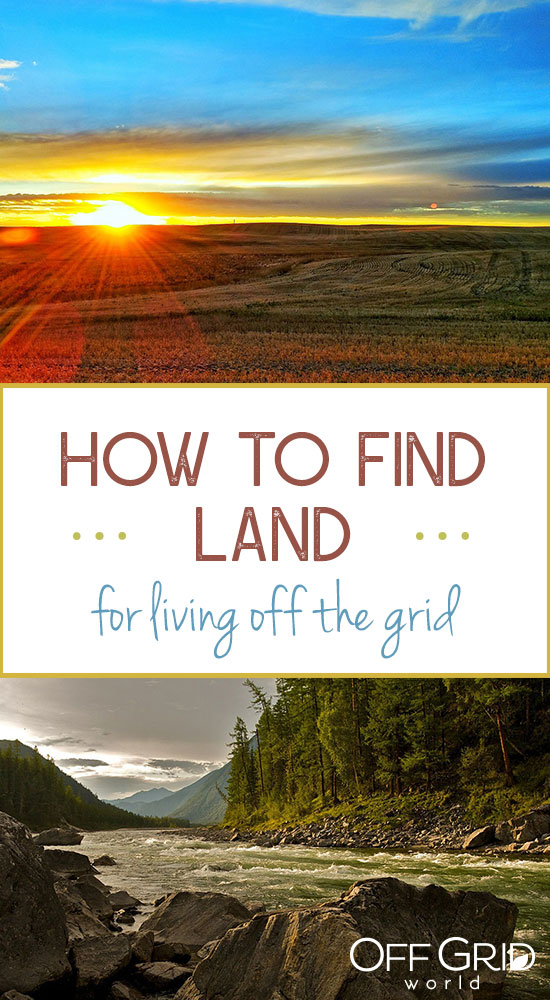 How to find land for living off the grid