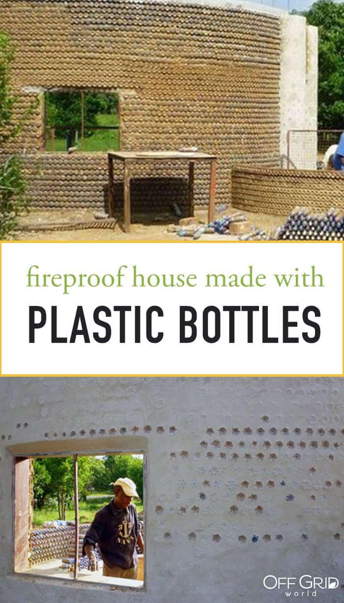 Plastic bottle house