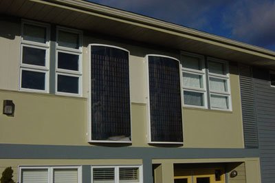 Solar panel from aluminum cans