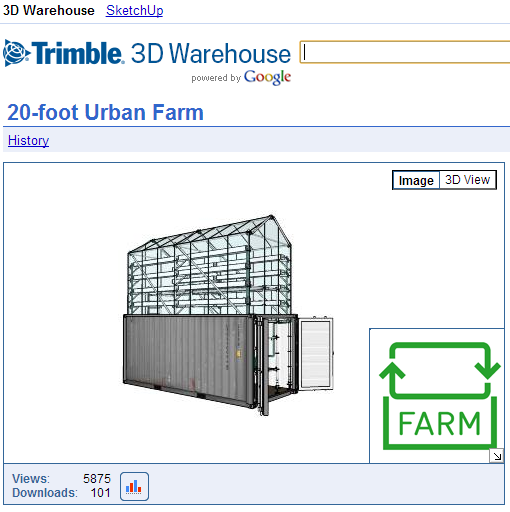 urban farm unit greenhouse
