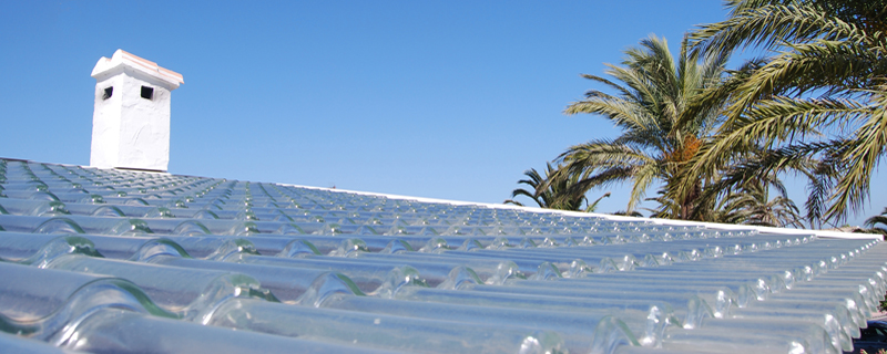 glass roofing tiles