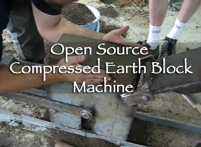 Open Source Compressed Earth Block Machine