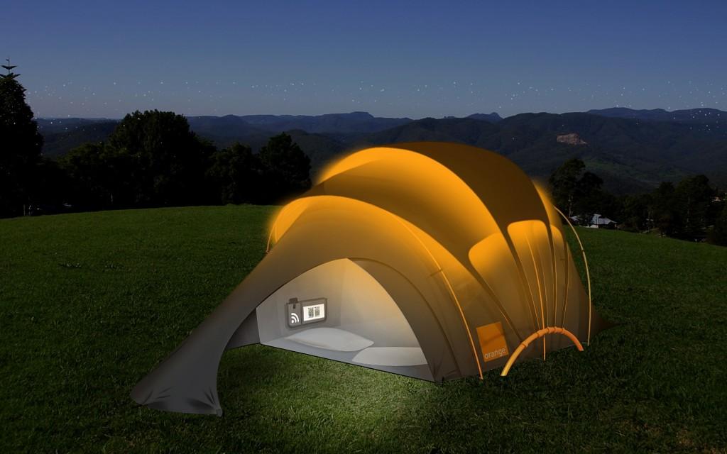 Orange Solar Concept Tent