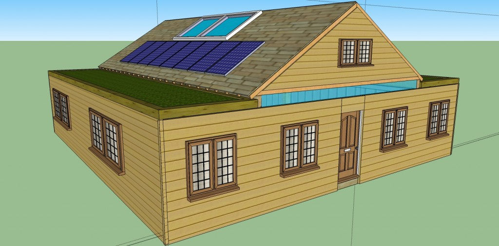 12 steps how to build a cozy 1720sqft solar powered for Off grid cabin foundation