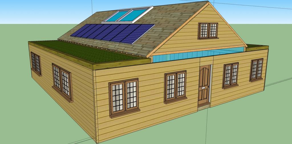 12 steps how to build a cozy 1720sqft solar powered - Cost of solar panels for 3 bedroom house ...