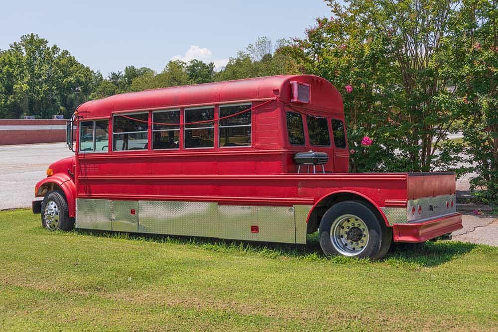 Converted camper bus