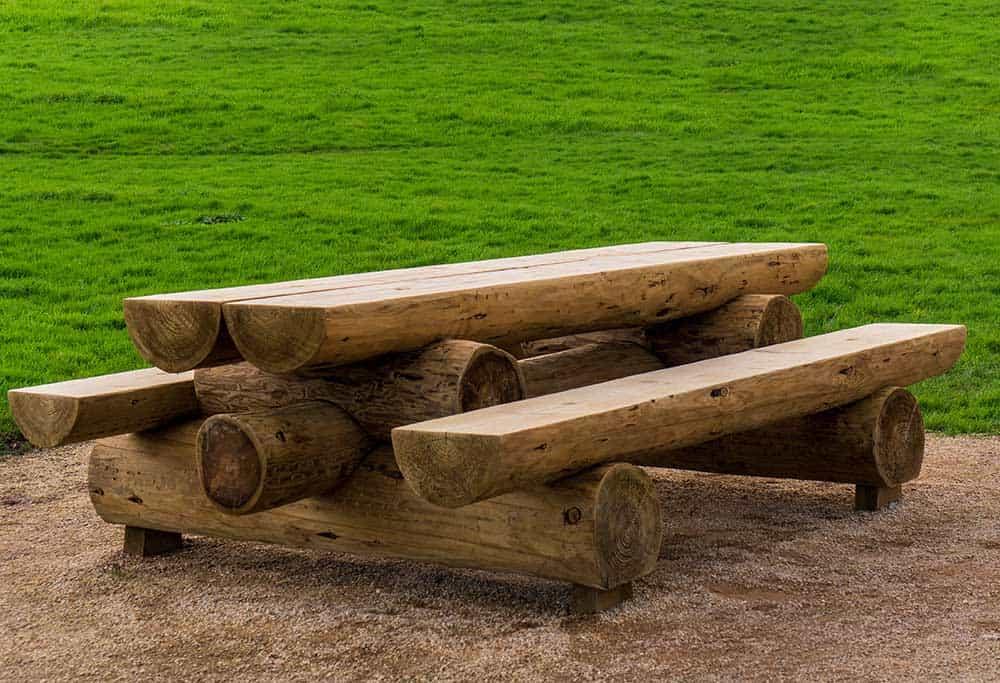 Log bench and table