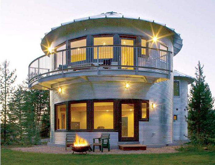 Grain silo home is metal roundhouse beauty Cost to build a house in utah
