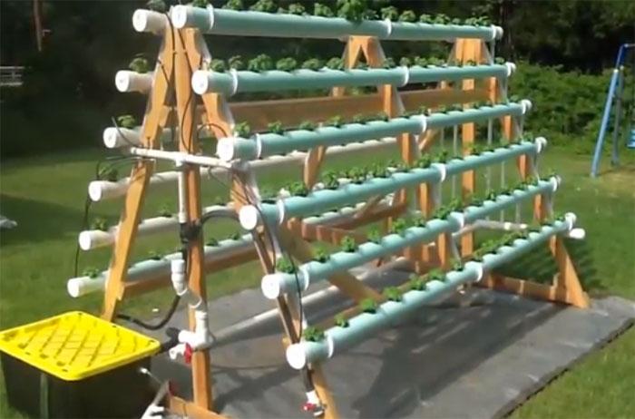 A-frame-hydroponic