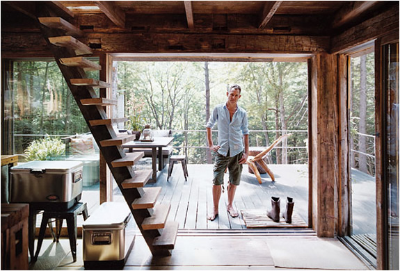 Scott newkirk s cabin in the woods off grid world for New york cabin