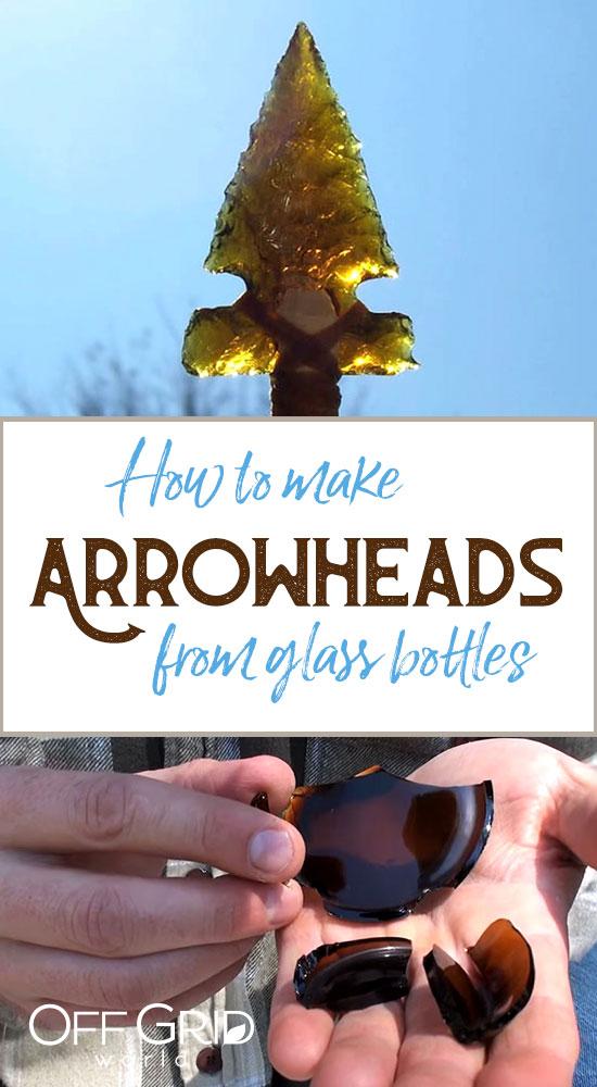 Glass bottle arrowheads