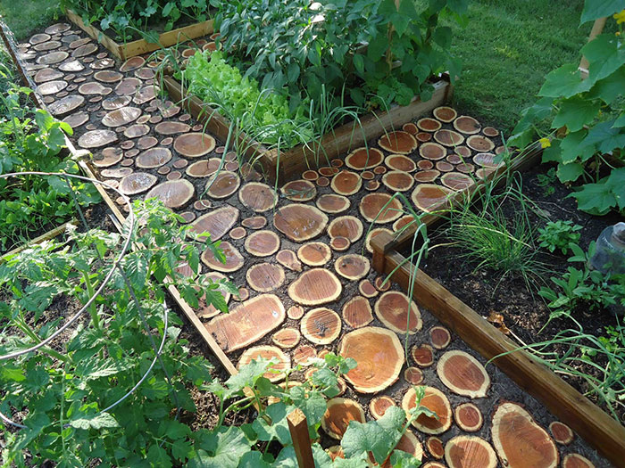 Pathway Ideas Part - 42: Wood Slice Pathway Via Domesticated Nomad