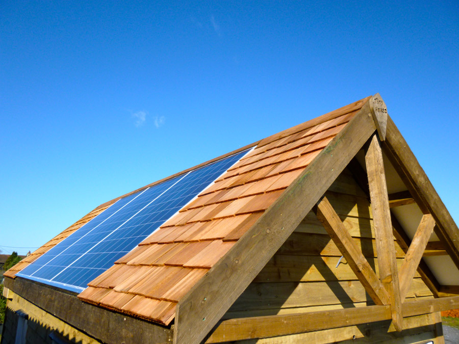 off grid solar powered tiny house is completely self sufficient out