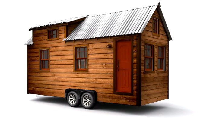 Couple builds beautiful mortgage free solar powered tiny for Small houses on wheels plans