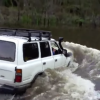 Amazing 4X4 Off Grid River Crossing! Toyota Land Cruiser Turns into Boat.