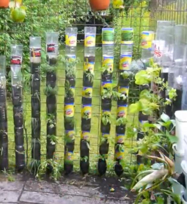 Water Bottle Tower Garden