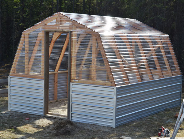 Build Small Greenhouse Diy Greenhouse6