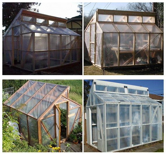 Green Home Design Ideas: 13 Cheap DIY Greenhouse Plans