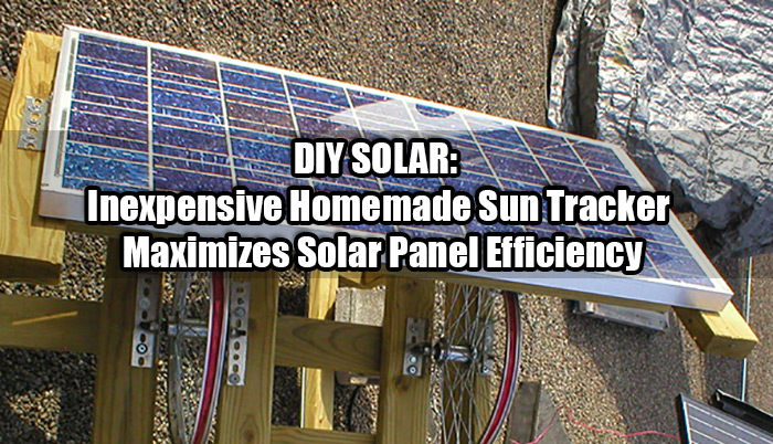 DIY SOLAR: Inexpensive Homemade Sun Tracker Maximizes Solar Panel Efficiency
