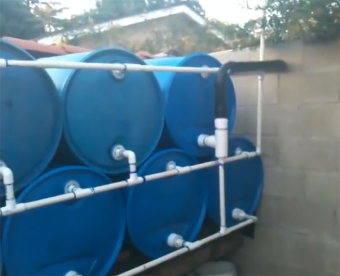 Simple Rain Barrel System Collects 825 Gallons Of Water