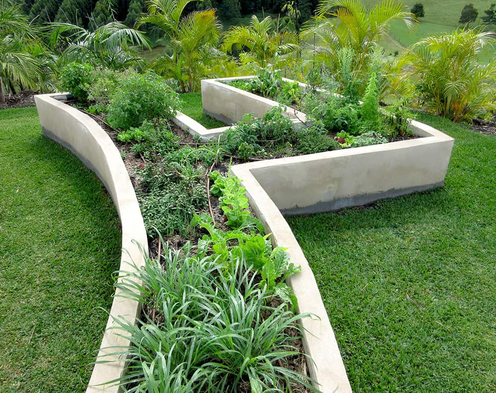 Concrete raised garden