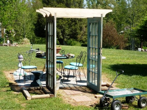 Pergola made with doors