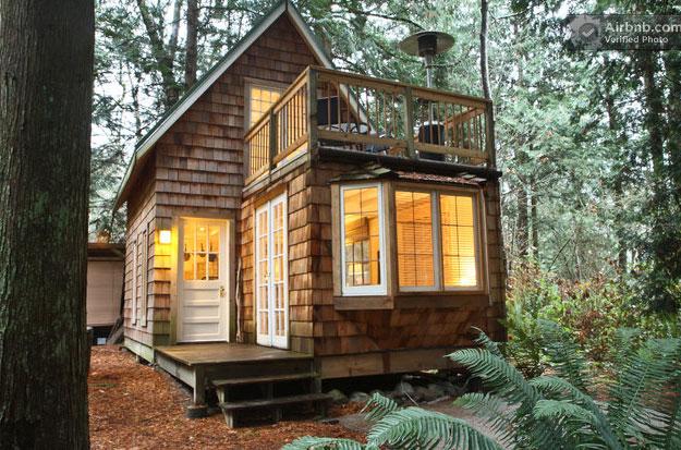 Off grid modern cabin