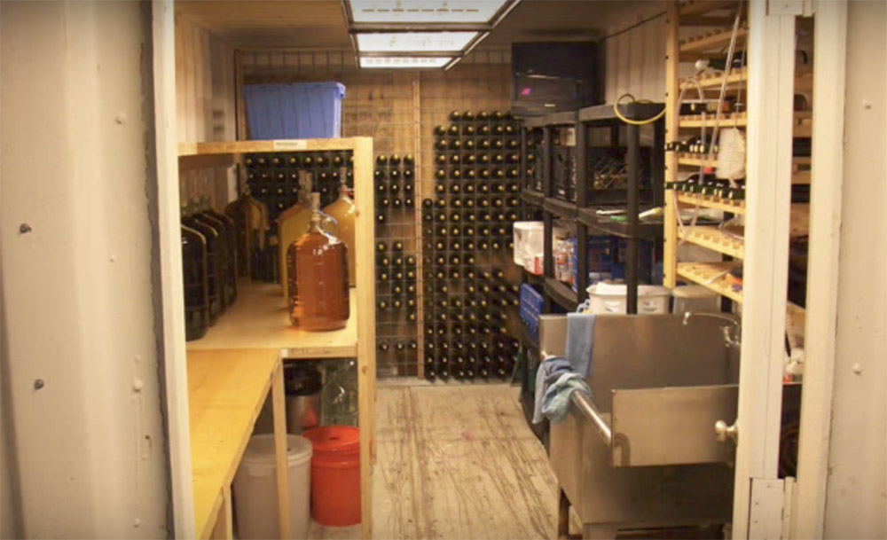 shipping container wine cellar & Shipping Container Makes an Amazing Underground Shelter/Wine Cellar ...