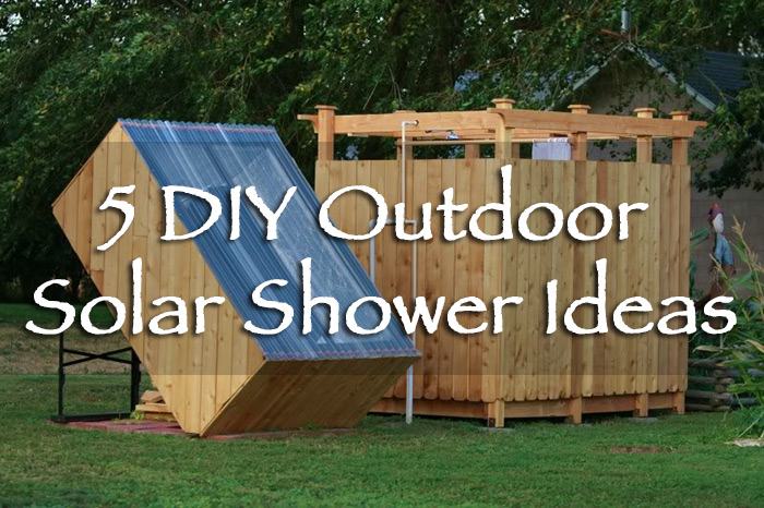 how to make an outdoor shower with hot water