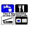 """The 4 Basic Necessities For Living """"Off The Grid"""""""