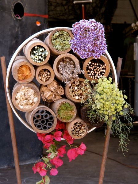 DIY bee habitat