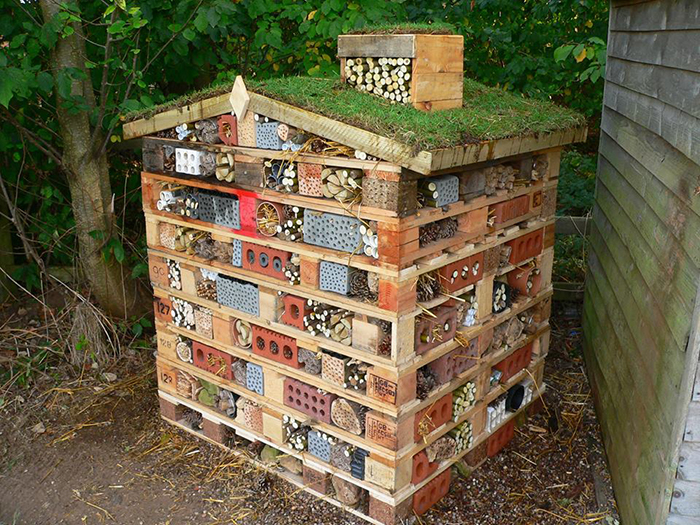 DIY bee hotels